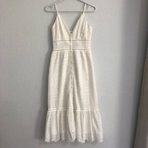 Dee elly white lace midi dress